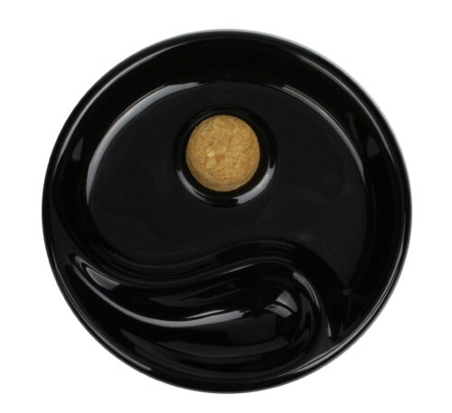 Pijpasbak zwart keramiek 1 legger 3
