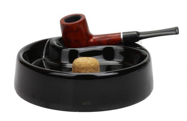 Pijpasbak zwart keramiek 2